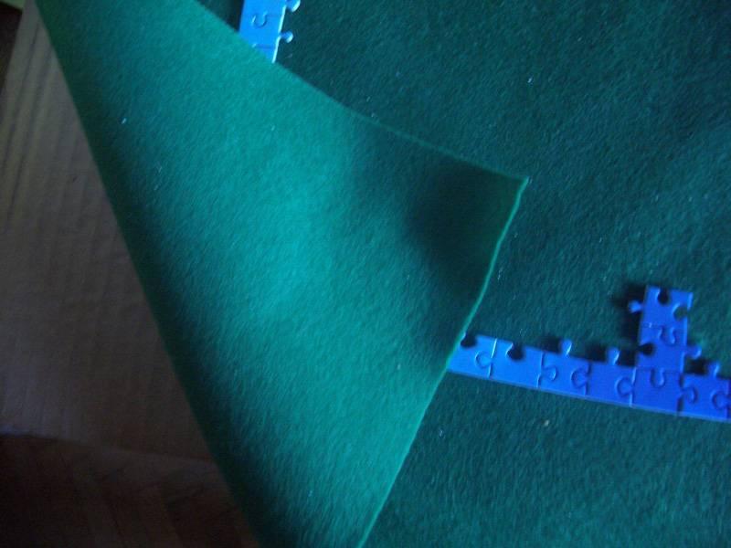 Как сделать коврик для сборки пазлов