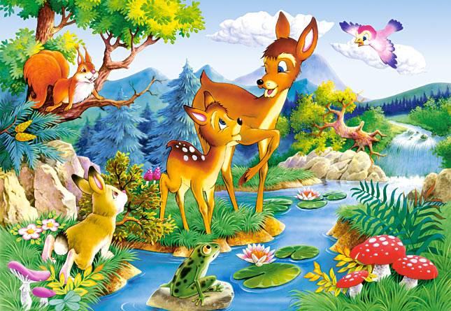 Иллюстрация 1 из 3 для Puzzle-1000. Бэмби (С-100552)   Лабиринт - игрушки. Источник: Губяткин  Павел Владимирович