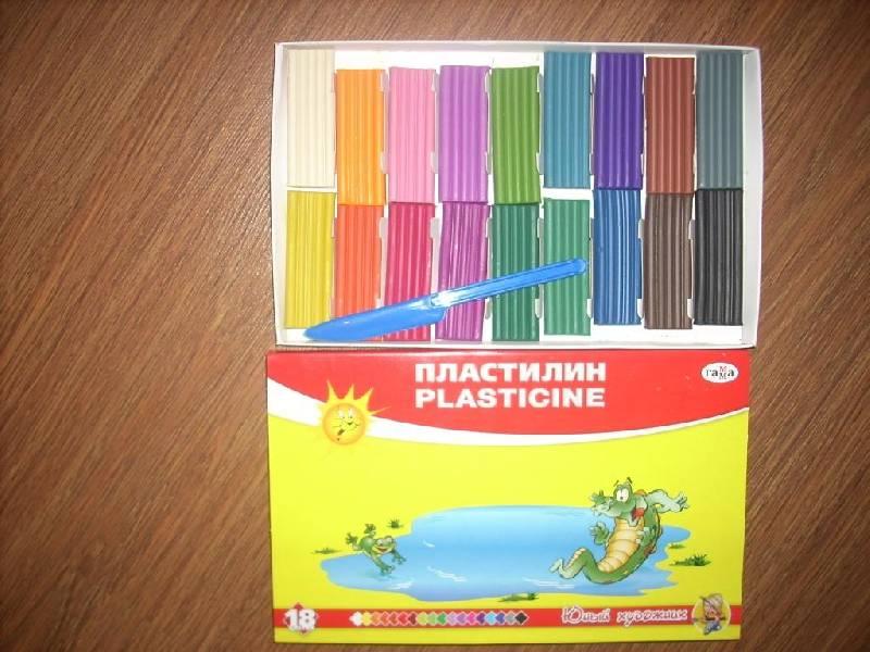 Иллюстрация 1 из 14 для Пластилин со стеком 18 цветов Юный художник (280047) | Лабиринт - игрушки. Источник: Поклонцева Юлия Сергеевна