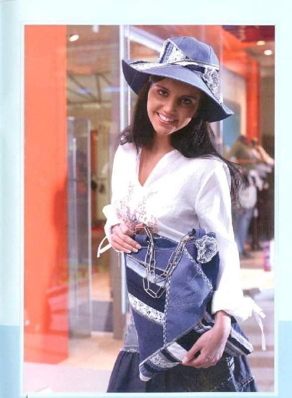 Сшить шляпку из старых джинсов 8