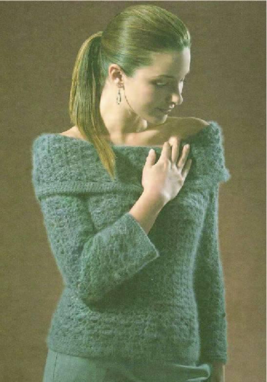 Вязание свитера крючком схемы.