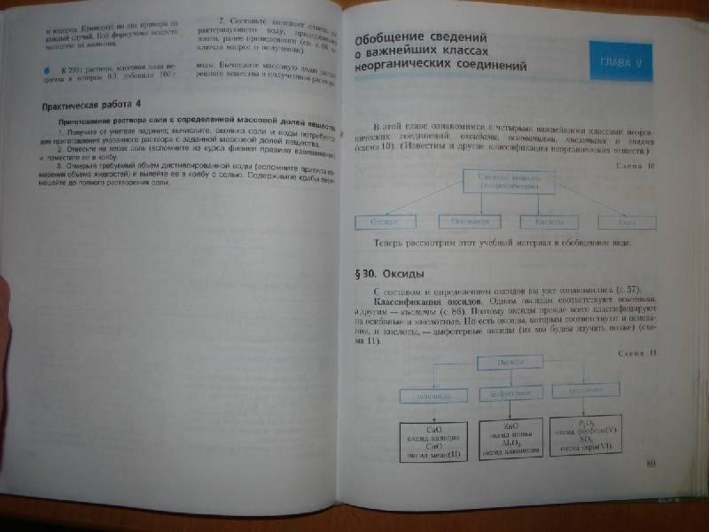 Химия неорганическая химия 8 класс