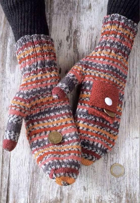 Варежки вязаные .  Кройка, шитье, вязание - способы и приемы.