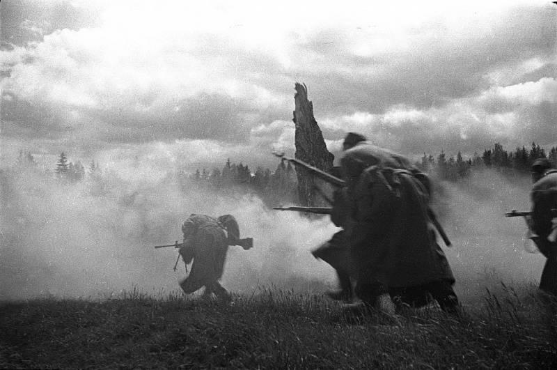 Атака пехоты.