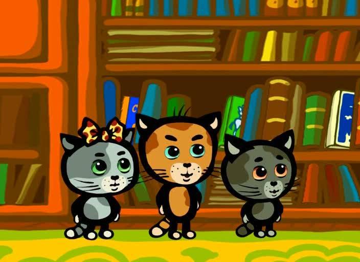Иллюстрация 1 из 9 для Мультяшки в кармашке: Три котенка (DVD)   Лабиринт - видео. Источник: Флинкс
