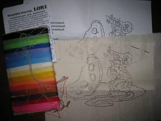 Иллюстрация 1 из 3 для Вышивка крестом: Мышка (В012) | Лабиринт - игрушки. Источник: Troulala