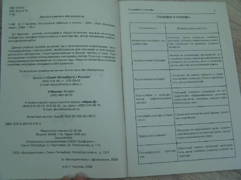 книги География в таблицах