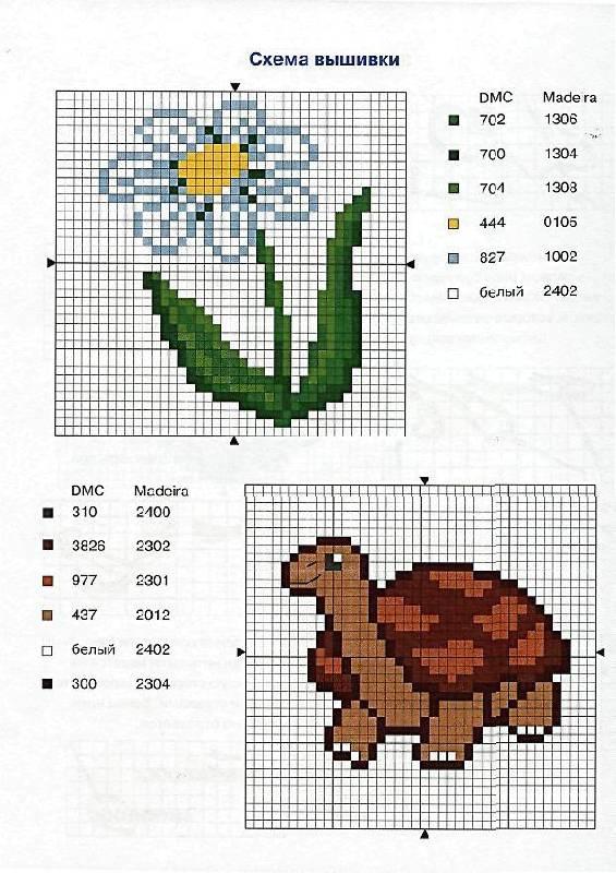 Простейшие вышивки крестом схемы для детей простые 547