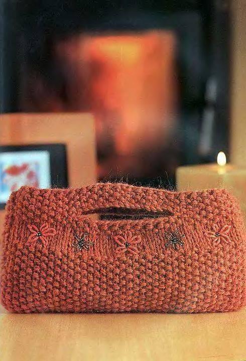спицами схемы стильных сумок - Сумки