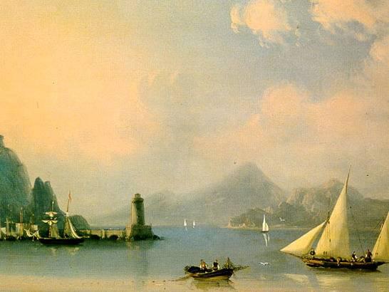 """...и в то же время самых популярных картинах Айвазовского ( """"Черное море """" и другие) он смог изобразить живую стихию..."""
