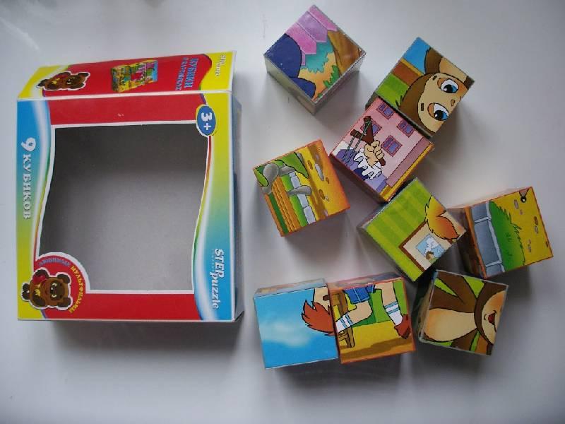 """Иллюстрация 1 из 19 для 9 кубиков 87310 """"Любимые мультфильмы""""-2   Лабиринт - игрушки. Источник: Tiger."""