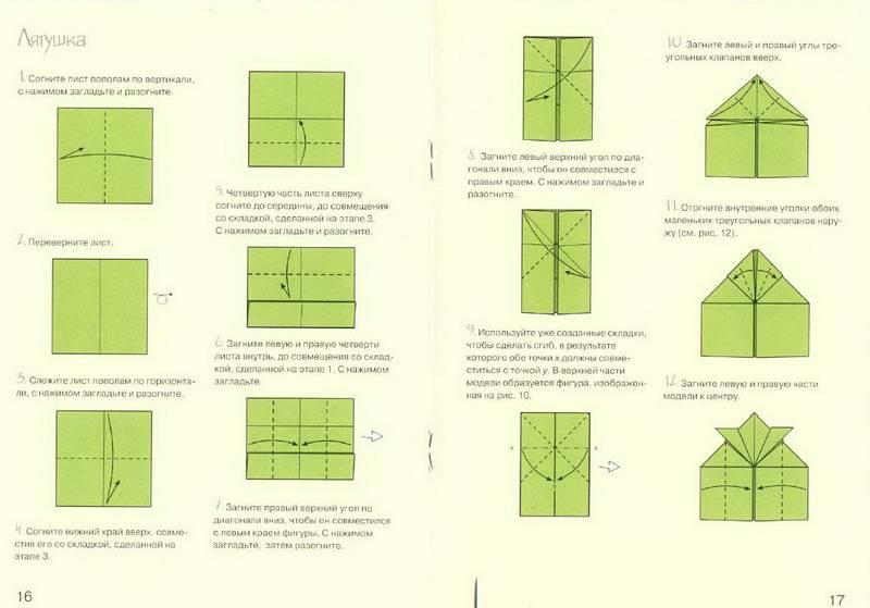 Оригами для детей лягушка прыгающая