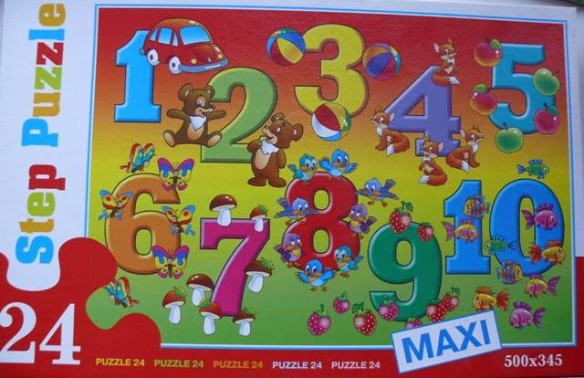 Иллюстрация 1 из 3 для Step Puzzle-24 MAXI 70004 Цифры   Лабиринт - игрушки. Источник: personok
