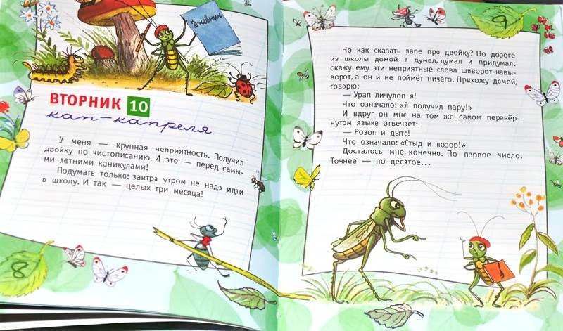 дневник кузнечика кузи читать картинками