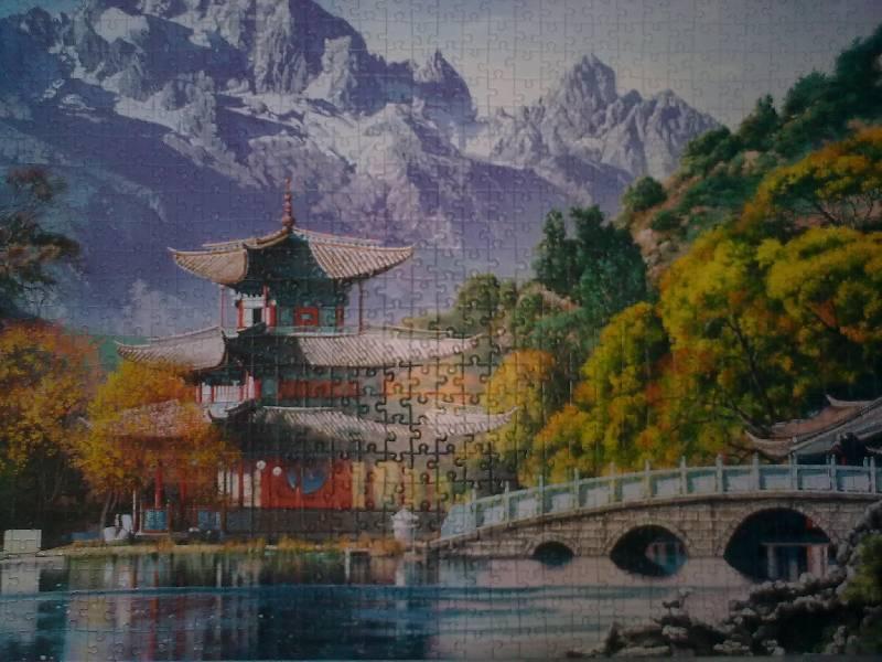 Пазл Castorland - Пагода на пруду Чёрного Дракона (Pagoda at the Black Dragon Pond, China) .