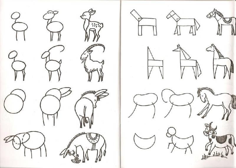 Обучение рисовать в картинках