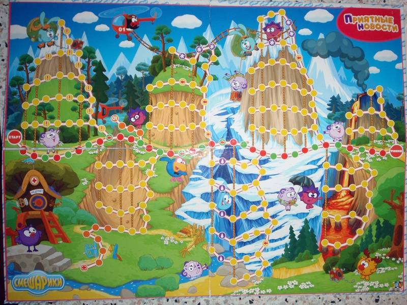Иллюстрация 1 из 3 для Настольная игра для всей семьи. Смешарики. Приятные новости | Лабиринт - игрушки. Источник: Анна Валерьевна
