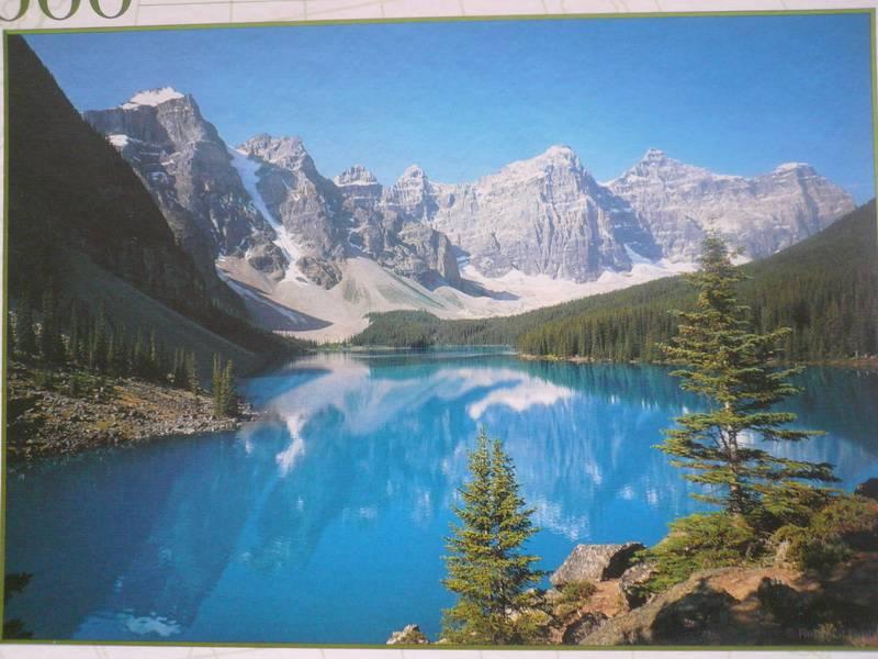 Иллюстрация 1 из 3 для Step Puzzle-1000 79047 Озеро в горах. Канада | Лабиринт - игрушки. Источник: Nadezhda_S