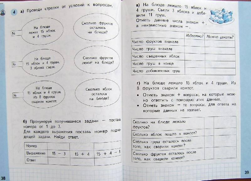 Математика 1 класс башмаков нефедова ответы 1 часть решебник ответы