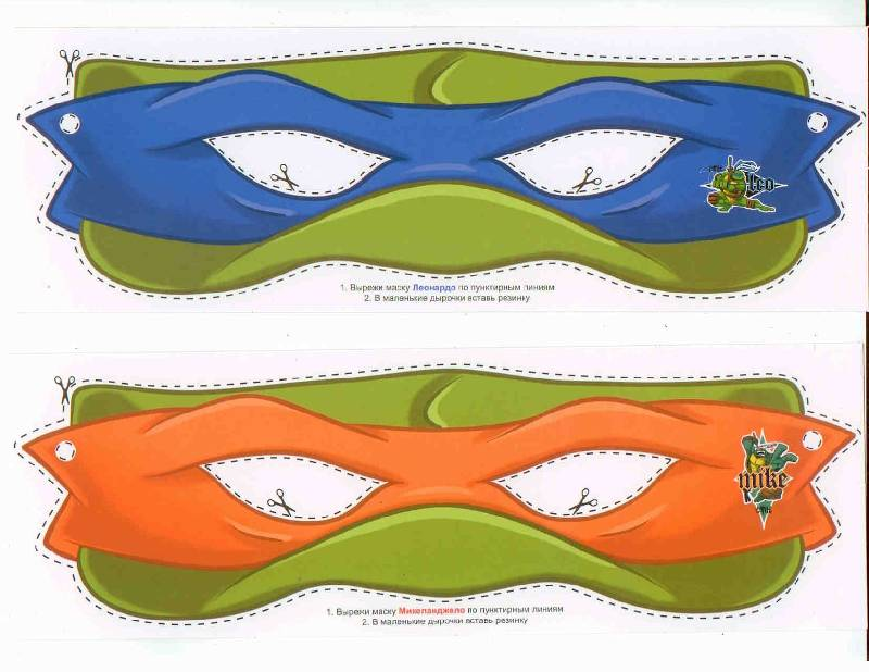 Как сделать из маску ниндзя 446