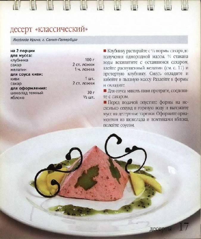 Рецепты десертов шеф-поваров