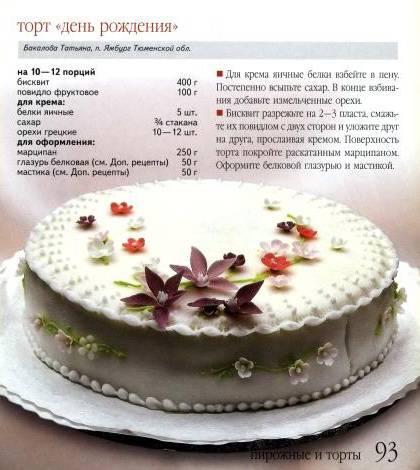 Торт с рецептом