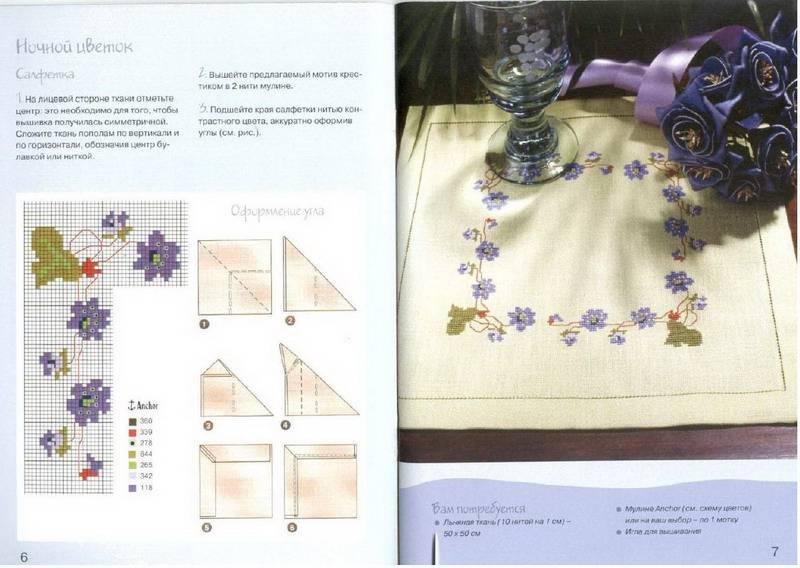 Рхема вышивки Скатерти и