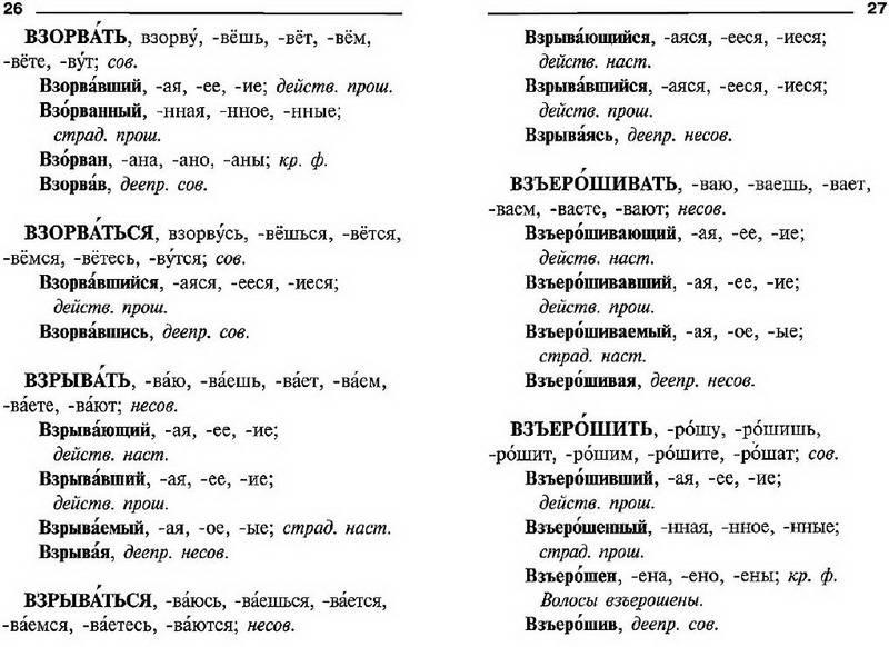 Правописание Глаголов, Причастий И Деепричастий Словарик Школьника
