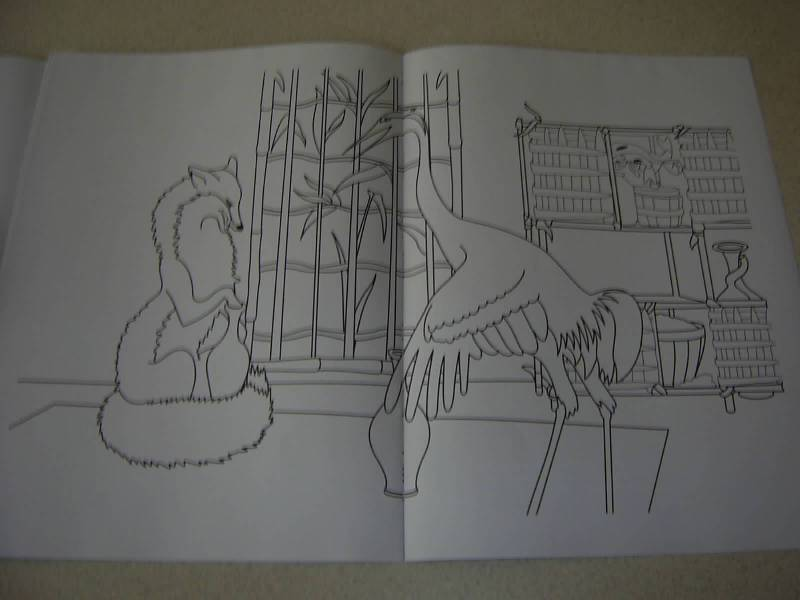 """Иллюстрация 13 к книге  """"Лиса и журавль (сказка с наклейками-пазлами) """", фотография, изображение, картинка."""