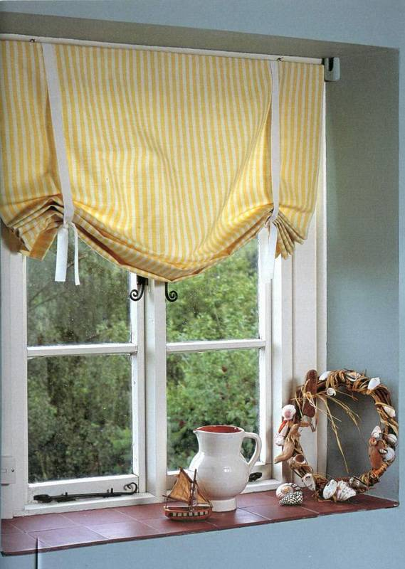 Рулонную штора своими руками