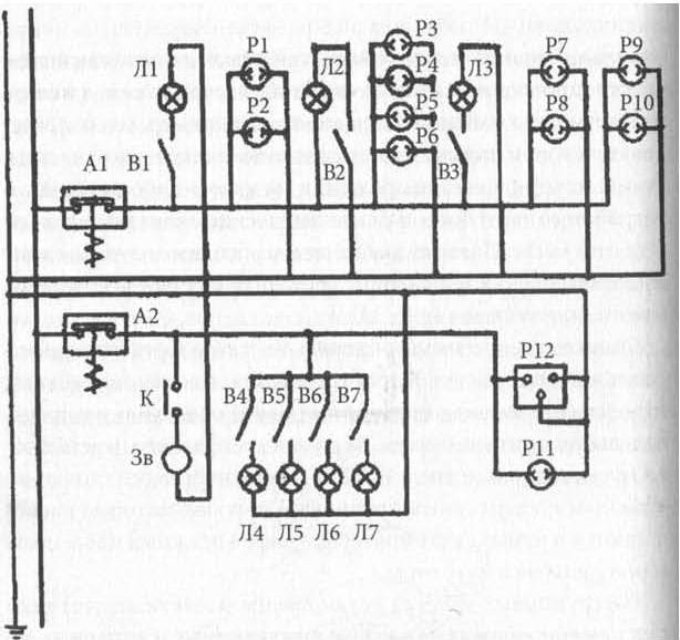 Электрическая схема девайса светодиодной лампы.  Схема включения вентилятора ваз 2107.