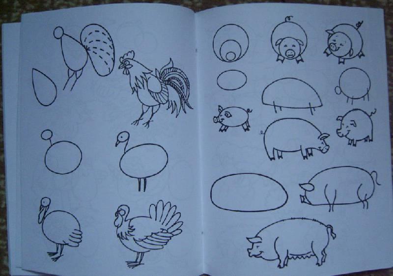 рисование по схемам домашних животных