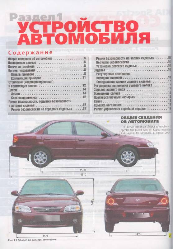 книжка по ремонту ходовоц части от киа спектра на русском языке
