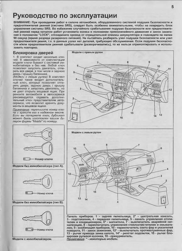 Иллюстрация 1 из 13 для Mazda 323/Familia Protege 2WD&4WD 1998-2004 годов выпуска | Лабиринт - книги. Источник: Ялина