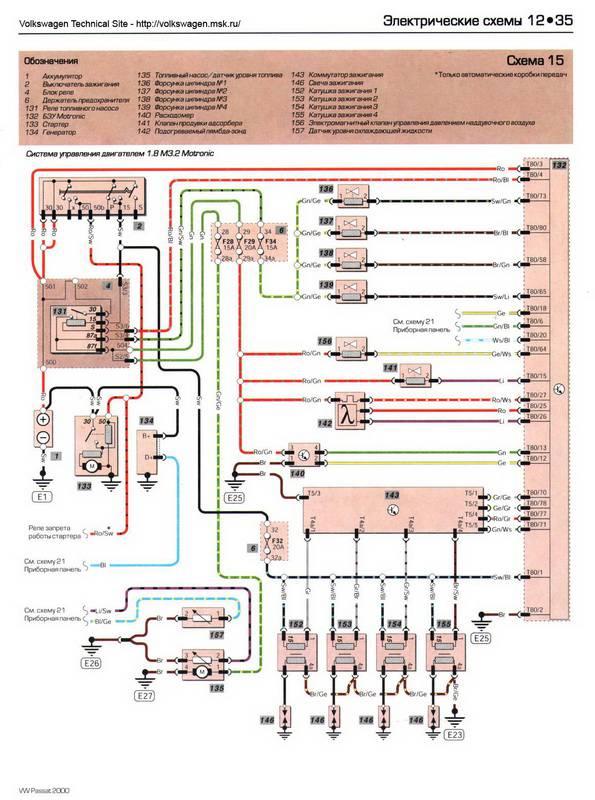 Vw passat схема электрооборудования 206