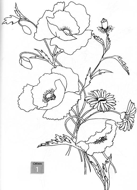 Рисуем с детьми цветы и деревья