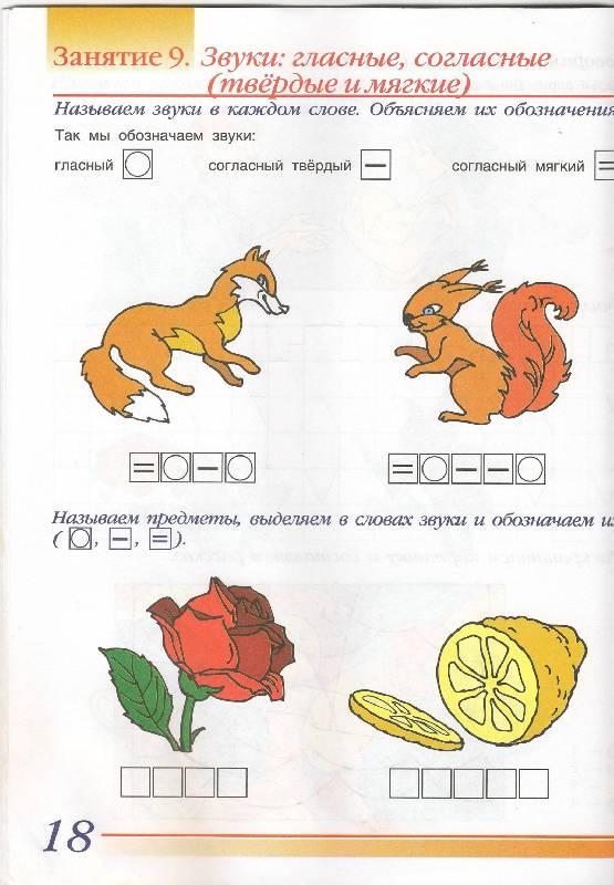 схема обозначения звуков цветами