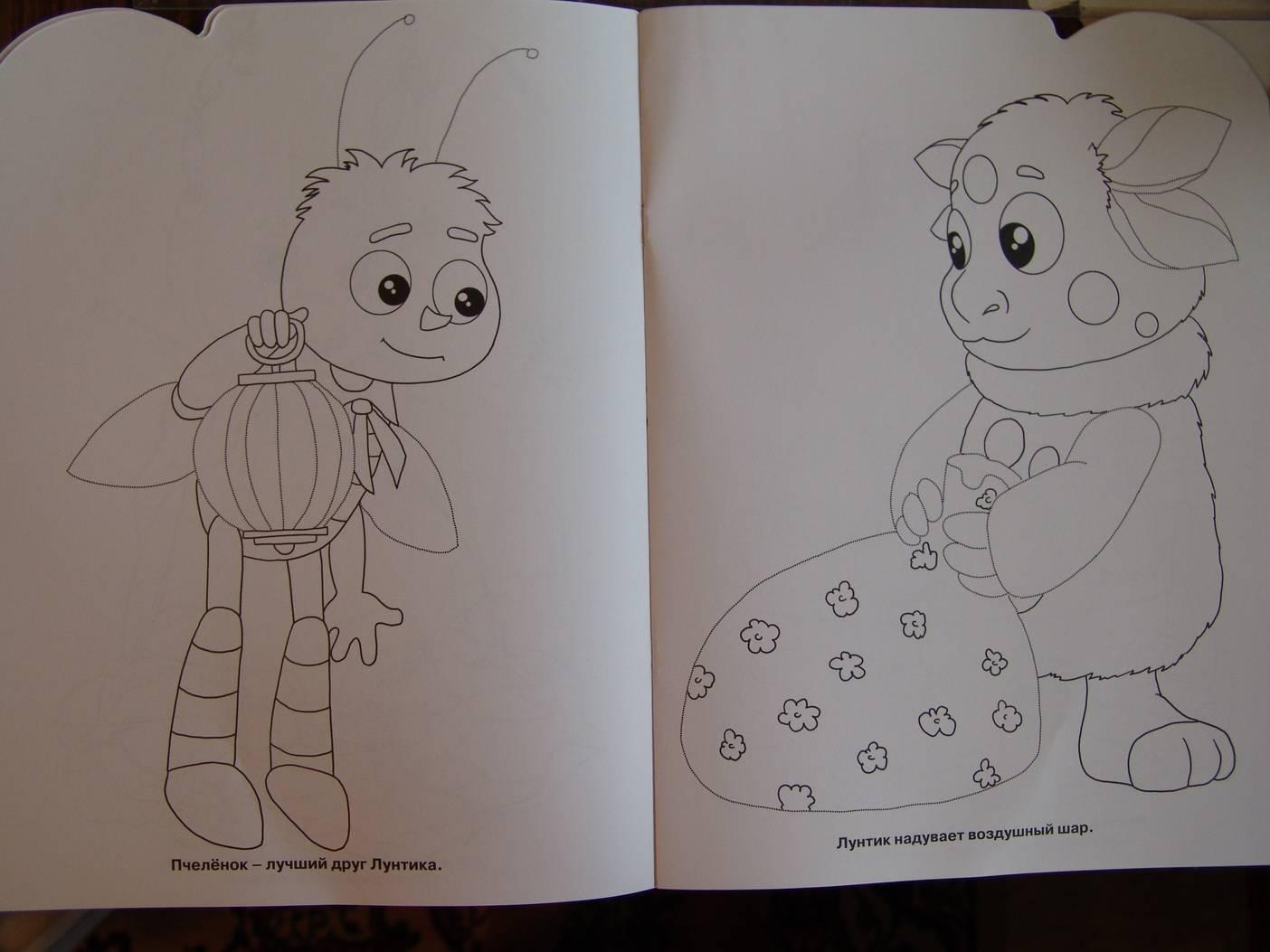 Иллюстрация 1 из 5 для Умная раскраска. Лунтик и его друзья (№ 0620) | Лабиринт - книги. Источник: Лаванда