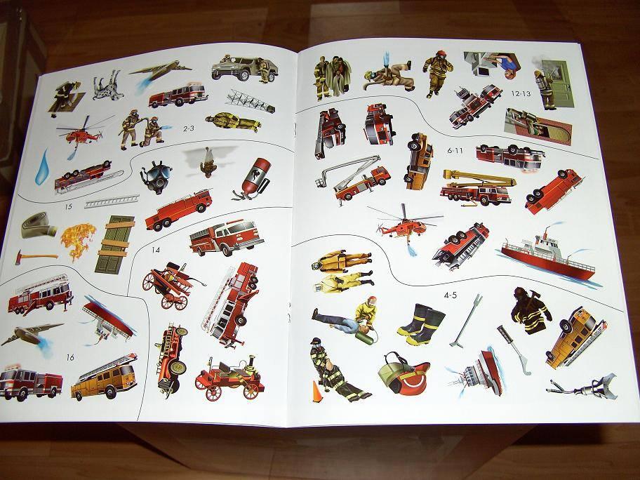 Иллюстрация 1 из 8 для Пожарные. Умные Наклейки | Лабиринт - книги. Источник: мама малыша