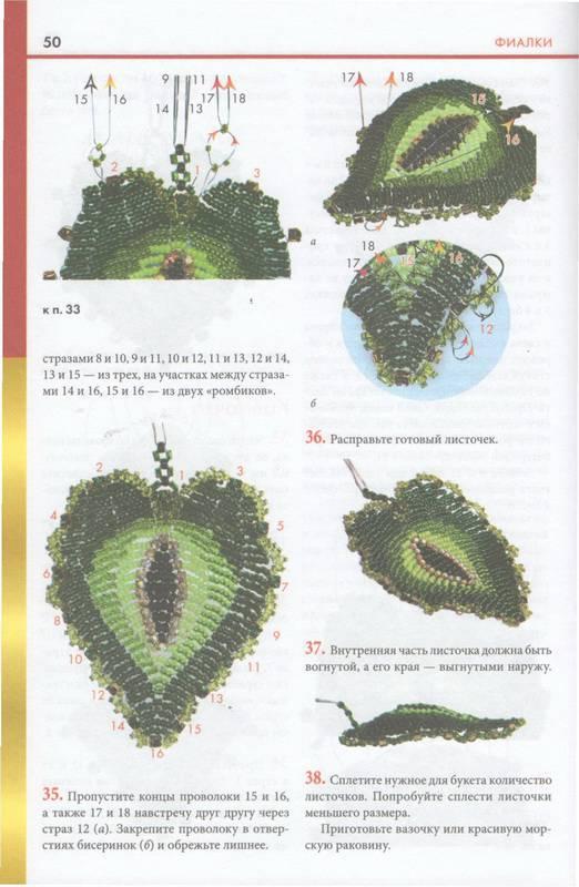 """Иллюстрация 16 к книге  """"Фигурки, цветы и миниатюры из бисера """", фотография, изображение, картинка."""