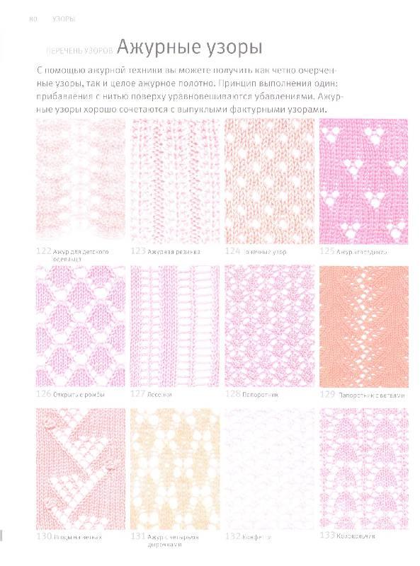 Узоры вязаний спицами схема