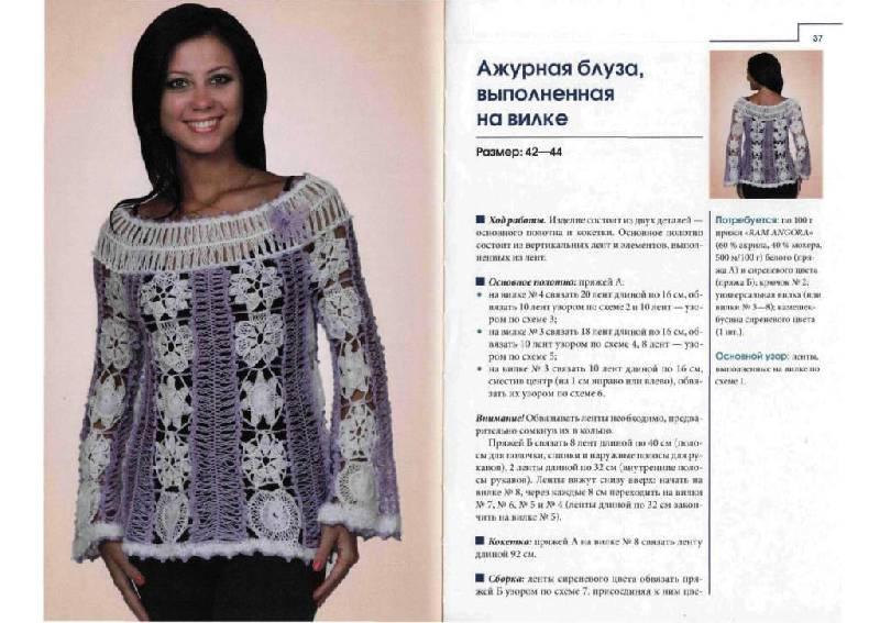 Иллюстрации Жакеты, юбки, блузы, шали, болеро, комплекты - Елена Ругаль.