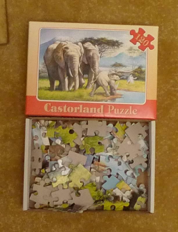 """Иллюстрация 1 из 3 для Puzzle-120. MIDI. """"Семейство слонов"""" (В-12466)   Лабиринт - игрушки. Источник: Гнетнев  Юрий Сергеевич"""