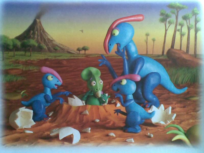 Смотреть как сделать из пластилина динозавра