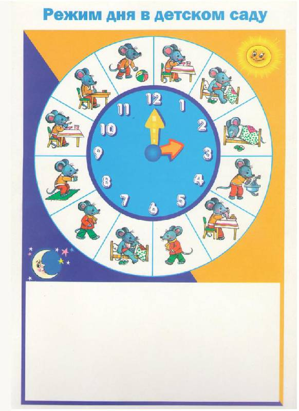 Режим дня в детском саду в картинках.  Прочитать целикомВ.