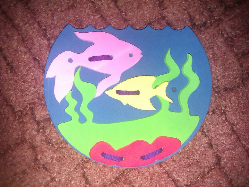 Иллюстрация 1 из 2 для Шнуровка. Аквариум (103001) | Лабиринт - игрушки. Источник: Диковинка