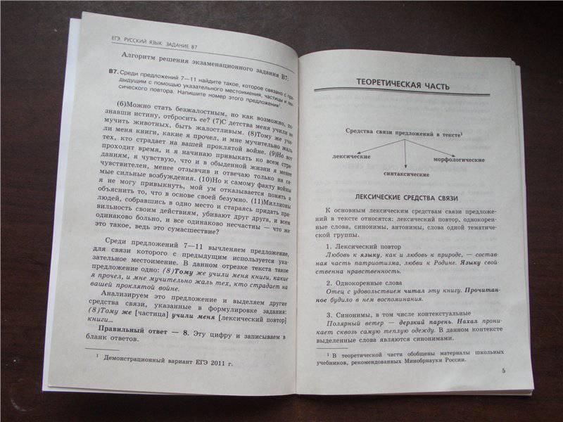 Источник.  Tarantinka. следующая. книги ЕГЭ 2011.  Русский язык.  Задание В7 - Маслова, Бисеров. из 2 для.