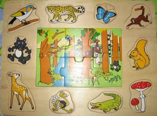 Иллюстрация 1 из 2 для Игра 89604 Веселое лото: В лесу | Лабиринт - игрушки. Источник: Н.  Анна