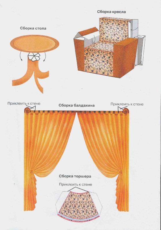 Как сделать мебель для кухни своими руками из бумаги