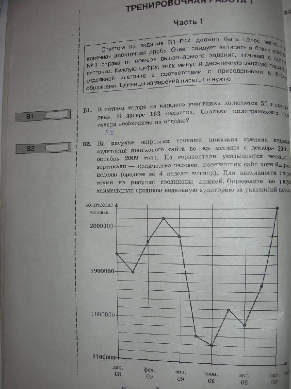 Тестовые задания по математике егэ 2012